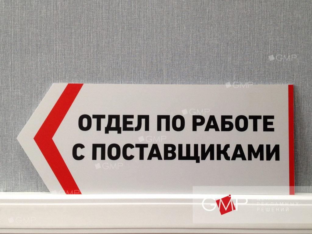 Изготовление табличек в Москве